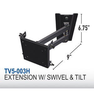 MOR/RYDE TV5-003H - Mor/Ryde TV Mount, Multi-Purpose TV5-003H